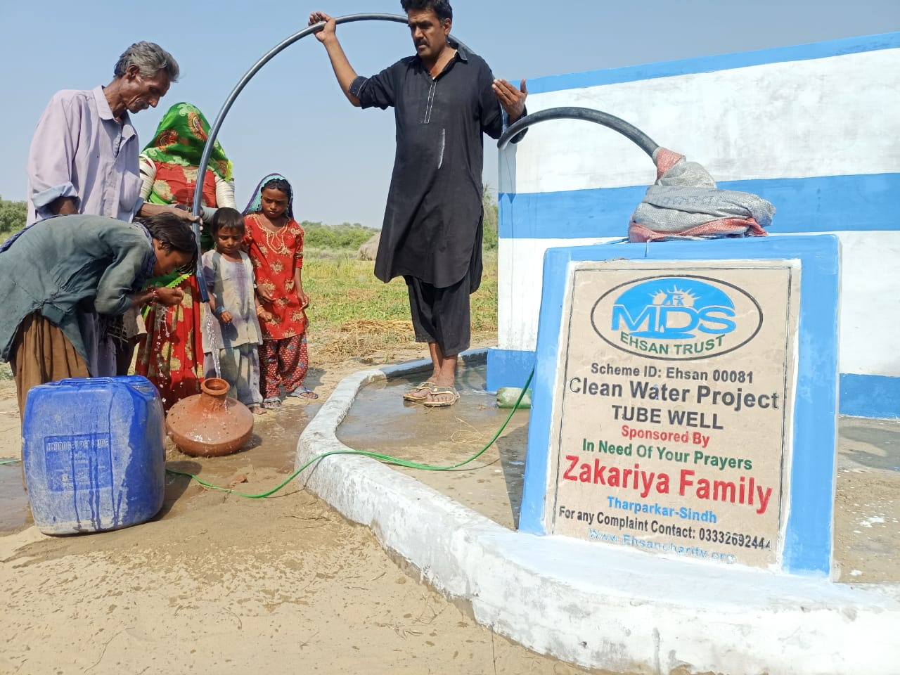 Provide pure water and fresh food for syrian poor people